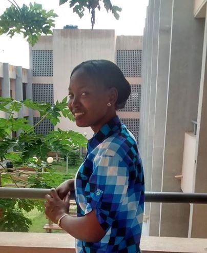 Alice Souka, étudiante en réseau et télécommunication, contributrice OpenStreeMap au Togo, membre de la communauté minodoo